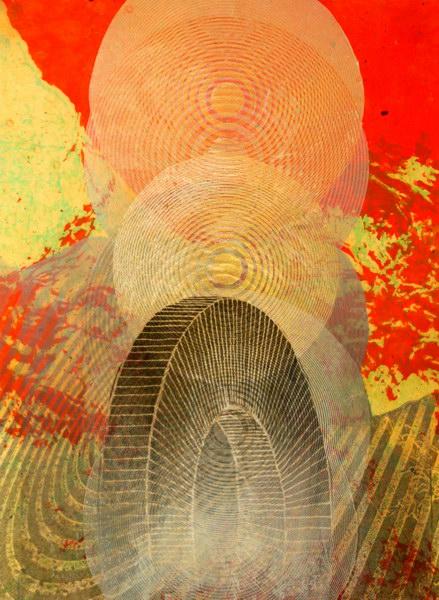Big Bang 2 (40 x 30 cm, collage on MDF)