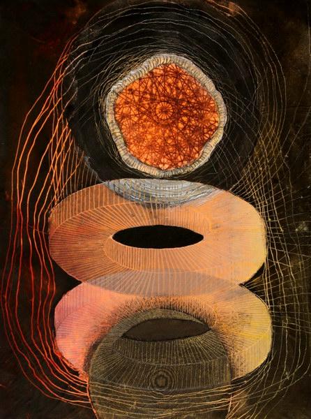 Big Bang 5 (40 x 30 cm, collage on MDF)