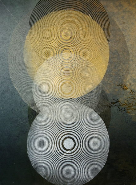 Big Bang 6 (40 x 30 cm, collage on MDF)